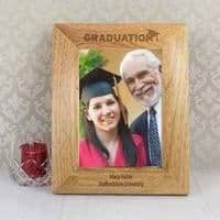 Personalised 5x7 Graduation Wooden Photo Frame - ideal keepsake gift for this exciting celebration